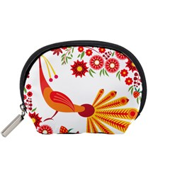 Peacock Pattern Accessory Pouch (small)