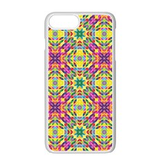 Triangle Mosaic Pattern Repeating Apple Iphone 7 Plus Seamless Case (white)