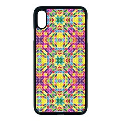 Triangle Mosaic Pattern Repeating Apple Iphone Xs Max Seamless Case (black) by Mariart