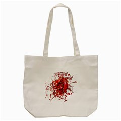 Red Pomegranate Fried Fruit Juice Tote Bag (cream)