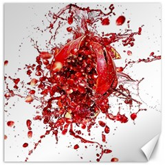 Red Pomegranate Fried Fruit Juice Canvas 20  X 20