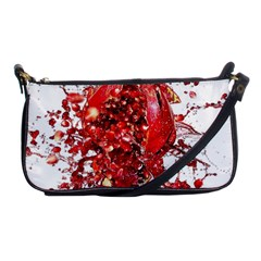 Red Pomegranate Fried Fruit Juice Shoulder Clutch Bag by Mariart