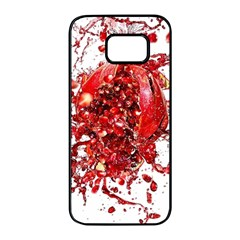Red Pomegranate Fried Fruit Juice Samsung Galaxy S7 Edge Black Seamless Case by Mariart