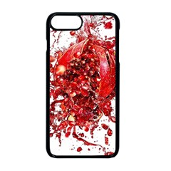 Red Pomegranate Fried Fruit Juice Apple Iphone 8 Plus Seamless Case (black)
