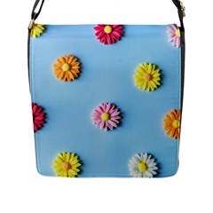 Daisy Flap Closure Messenger Bag (l) by WensdaiAddamns