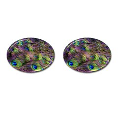 Peacock Feathers Cufflinks (oval) by WensdaiAddamns