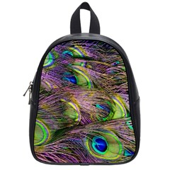 Peacock Feathers School Bag (small) by WensdaiAddamns