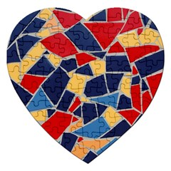 Pattern Tile Wall Background Jigsaw Puzzle (heart)