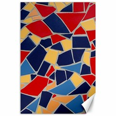 Pattern Tile Wall Background Canvas 24  X 36