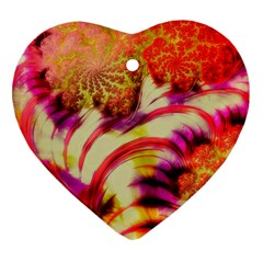 Fractal Mandelbrot Art Wallpaper Heart Ornament (two Sides)
