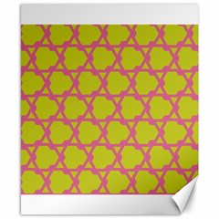 Pattern Background Structure Pink Canvas 8  X 10