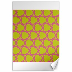 Pattern Background Structure Pink Canvas 24  X 36