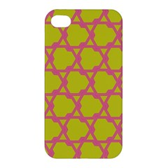 Pattern Background Structure Pink Apple Iphone 4/4s Hardshell Case