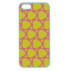 Pattern Background Structure Pink Apple Seamless Iphone 5 Case (color)