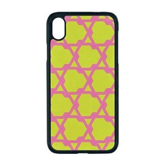 Pattern Background Structure Pink Apple Iphone Xr Seamless Case (black)