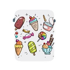 Doodle Cartoon Drawn Cone Food Apple Ipad 2/3/4 Protective Soft Cases