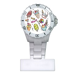 Doodle Cartoon Drawn Cone Food Plastic Nurses Watch