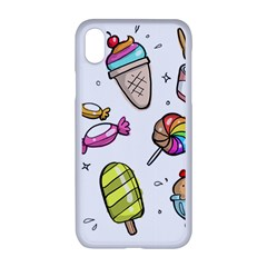 Doodle Cartoon Drawn Cone Food Apple Iphone Xr Seamless Case (white)
