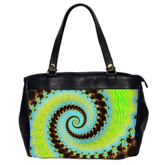 Fractal Julia Mandelbrot Art Oversize Office Handbag (2 Sides) by Pakrebo