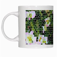 Mosaic Structure Pattern Background White Mugs