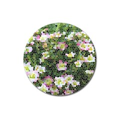 Mosaic Structure Pattern Background Magnet 3  (round)