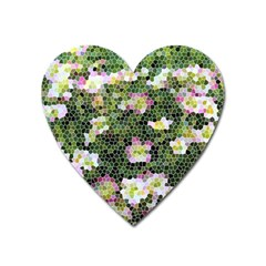 Mosaic Structure Pattern Background Heart Magnet