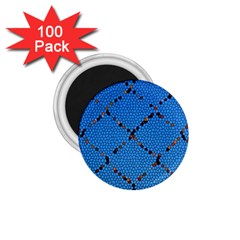 Pattern Structure Background Blue 1 75  Magnets (100 Pack)