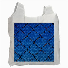 Pattern Structure Background Blue Recycle Bag (two Side)