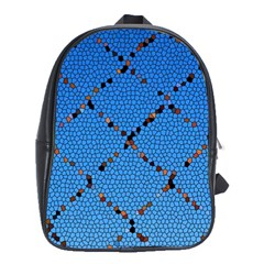 Pattern Structure Background Blue School Bag (large)