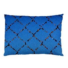 Pattern Structure Background Blue Pillow Case (two Sides)