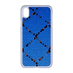 Pattern Structure Background Blue Apple Iphone Xr Seamless Case (white)