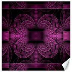 Fractal Magenta Pattern Geometry Canvas 16  X 16