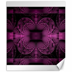Fractal Magenta Pattern Geometry Canvas 20  X 24
