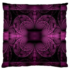 Fractal Magenta Pattern Geometry Standard Flano Cushion Case (one Side)