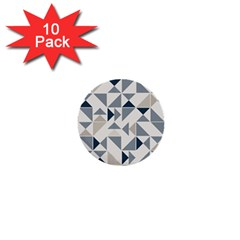 Geometric Triangle Modern Mosaic 1  Mini Buttons (10 Pack)