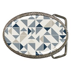 Geometric Triangle Modern Mosaic Belt Buckles by Pakrebo