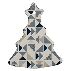 Geometric Triangle Modern Mosaic Christmas Tree Ornament (two Sides)