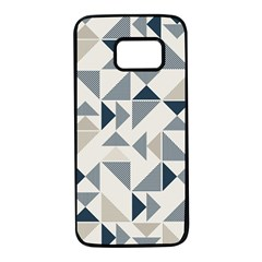 Geometric Triangle Modern Mosaic Samsung Galaxy S7 Black Seamless Case by Pakrebo