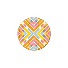 Line Pattern Cross Print Repeat Golf Ball Marker (4 Pack)