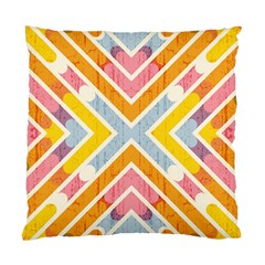 Line Pattern Cross Print Repeat Standard Cushion Case (two Sides)