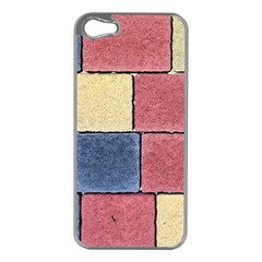 Model Mosaic Wallpaper Texture Apple Iphone 5 Case (silver)