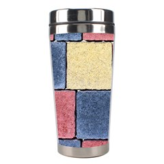Model Mosaic Wallpaper Texture Stainless Steel Travel Tumblers