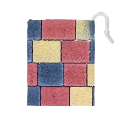 Model Mosaic Wallpaper Texture Drawstring Pouch (large)