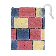 Model Mosaic Wallpaper Texture Drawstring Pouch (xl)
