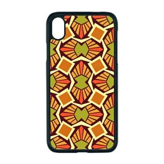 Geometry Shape Retro Trendy Symbol Apple Iphone Xr Seamless Case (black)