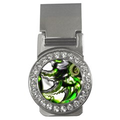 Fractal Green Trumpet Trump Money Clips (cz)
