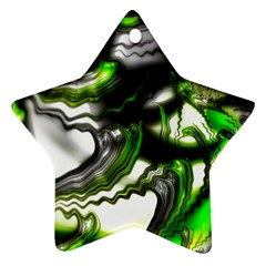 Fractal Green Trumpet Trump Star Ornament (two Sides)