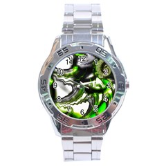 Fractal Green Trumpet Trump Stainless Steel Analogue Watch