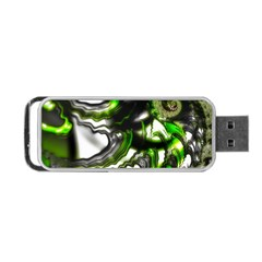 Fractal Green Trumpet Trump Portable Usb Flash (one Side)