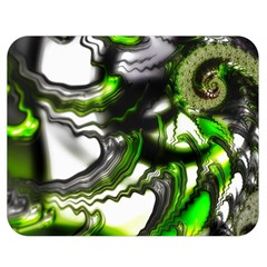 Fractal Green Trumpet Trump Double Sided Flano Blanket (medium)  by Pakrebo